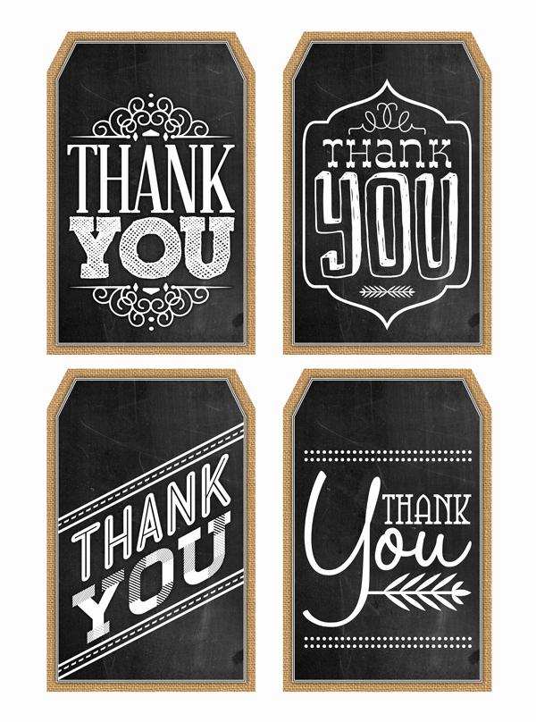 Free Printable Thank You Tags Inspirational Free Printable Thank You Chalkboard Tags & A Happy