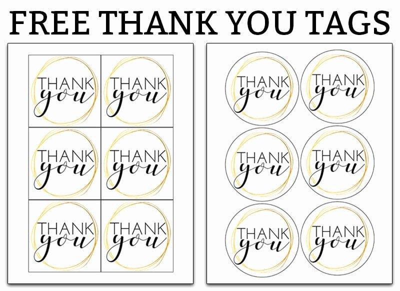 Free Printable Thank You Tags New Printable Thank You Tags