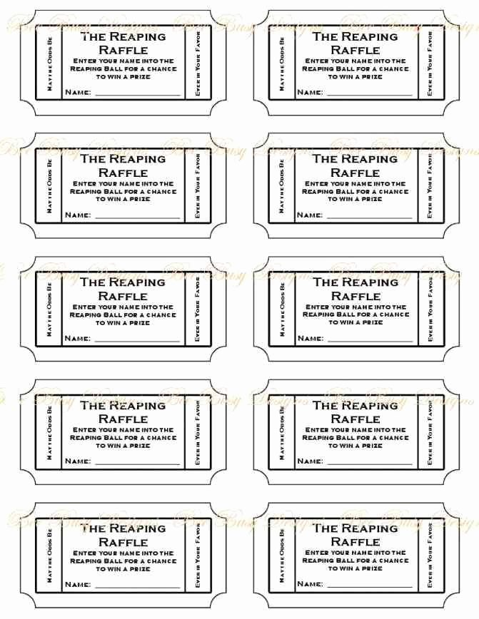 Free Printable Tickets Template Awesome 10 Best Free Printable Raffle Ticket Template Images On
