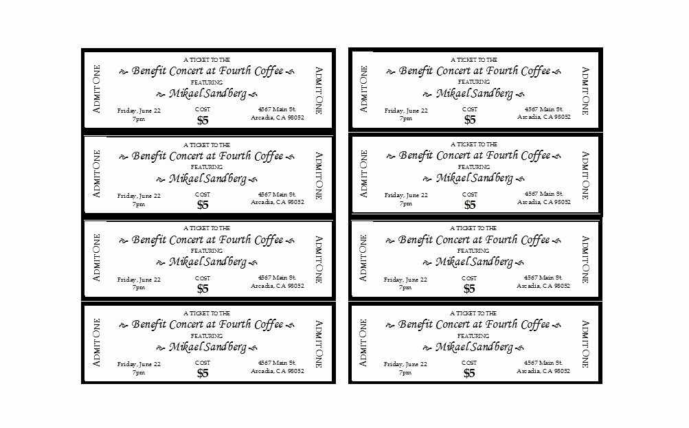 Free Printable Tickets Template Beautiful 22 Free event Ticket Templates Ms Word Template Lab