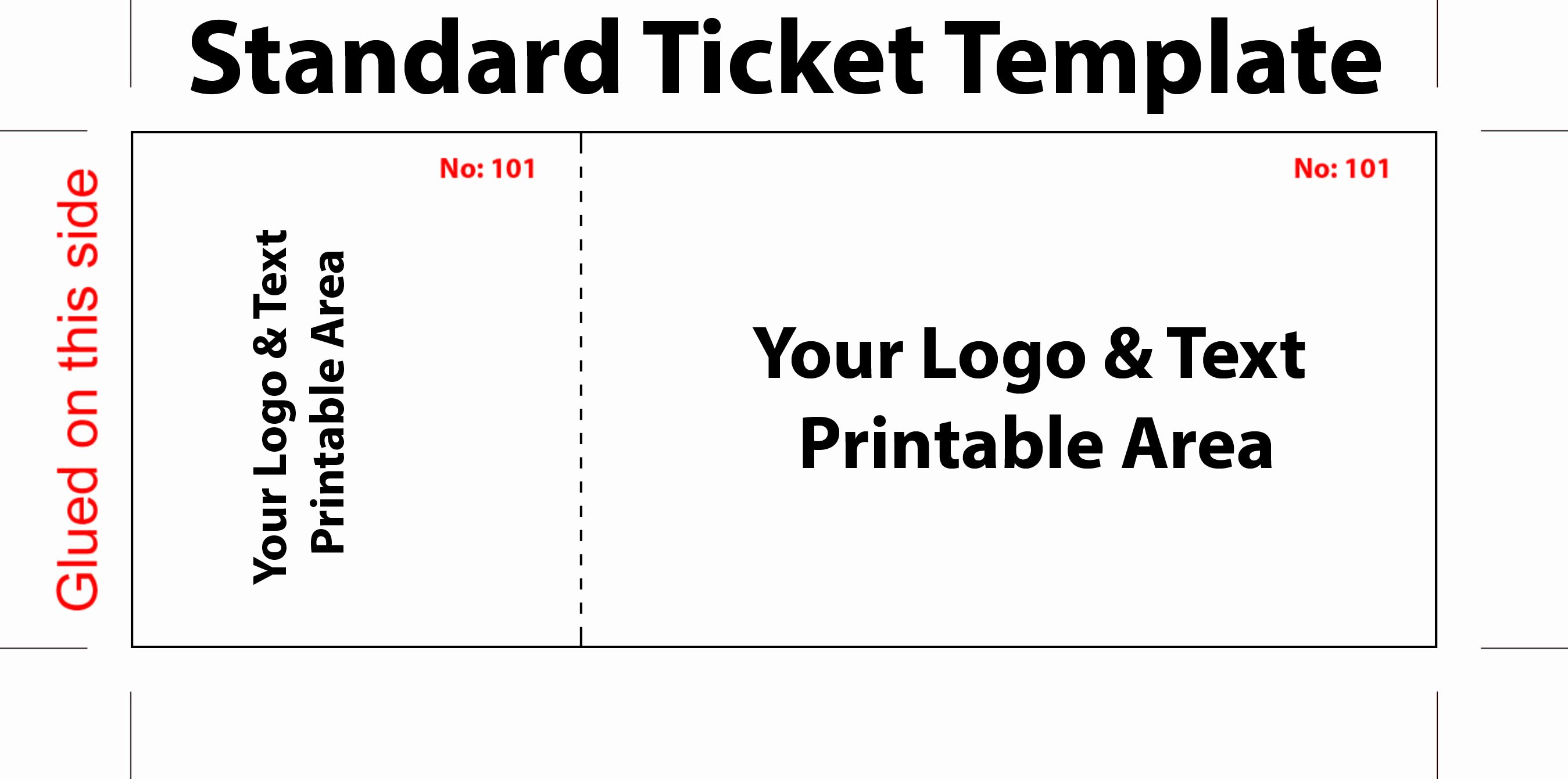 Free Printable Tickets Template Beautiful Free Editable Standard Ticket Template Example for Concert