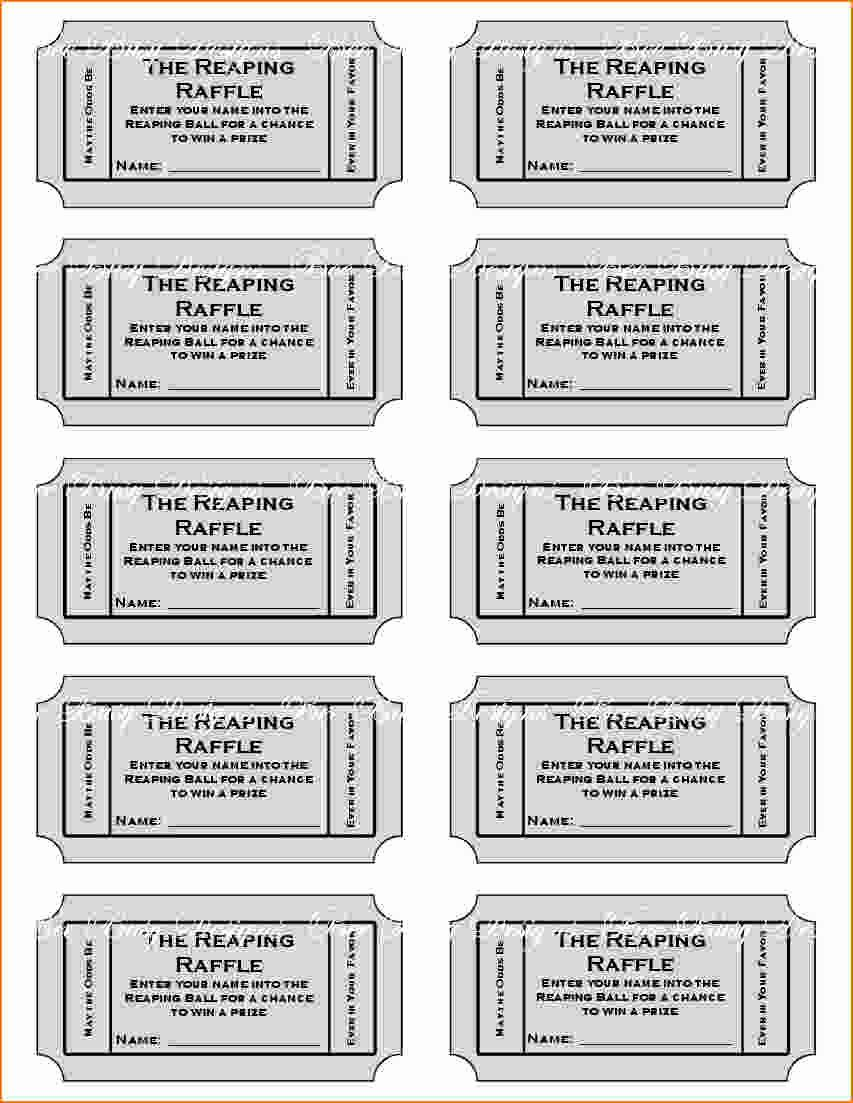 Free Printable Tickets Template Inspirational Free Printable Raffle Tickets with Stubs Free Download