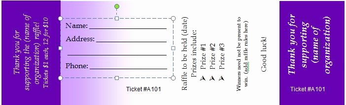 Free Printable Tickets Template Lovely 41 Free Editable Raffle & Movie Ticket Templates Free