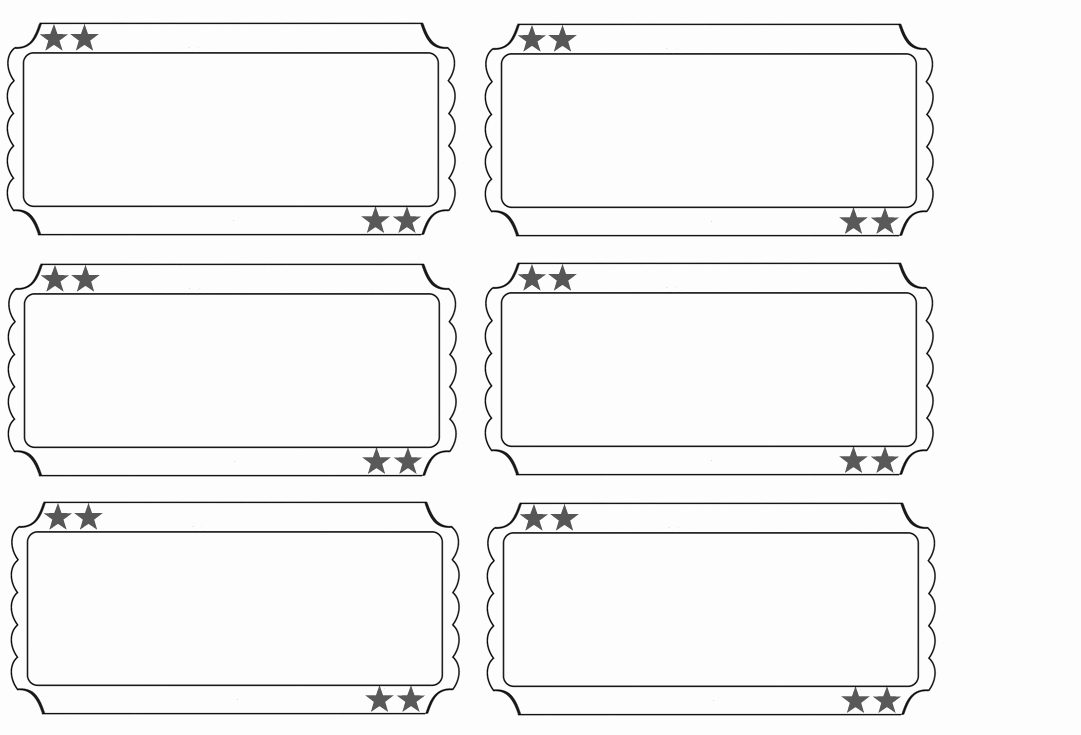 Free Printable Tickets Template Lovely Printable Raffle Tickets Blank Kids Google Search