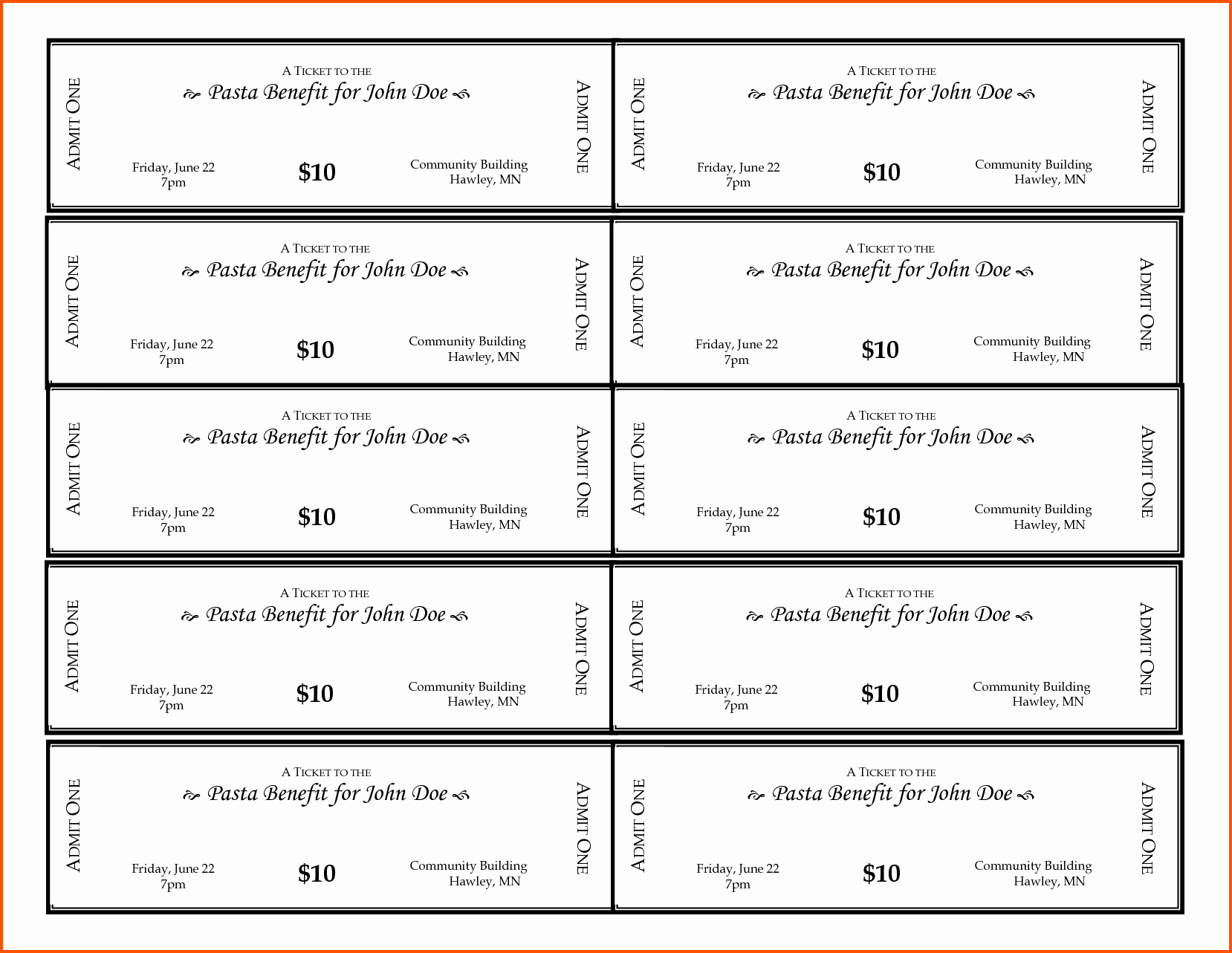 Free Printable Tickets Template Luxury 11 Free Printable Ticket Templates
