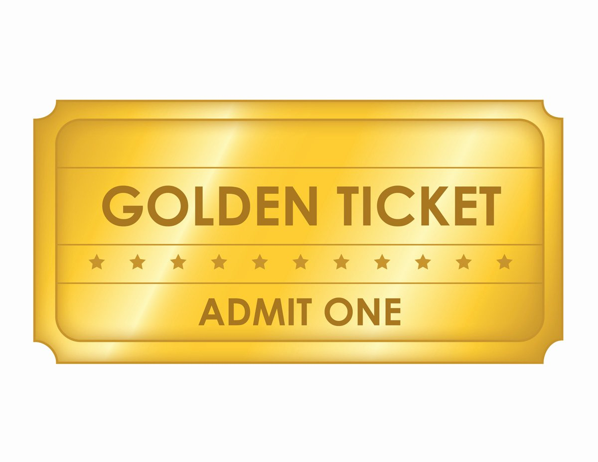 free printable golden ticket templates blank