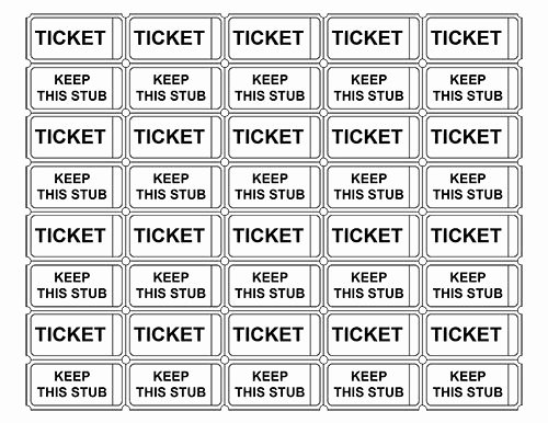 Free Printable Tickets Template Luxury Printable Admission Tickets without Numbers