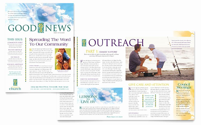 Free Publisher Newsletter Templates Beautiful Christian Church Newsletter Template Word & Publisher
