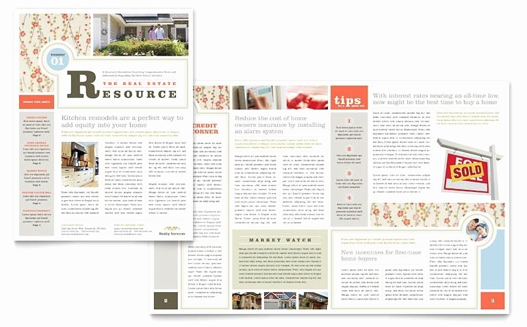 Free Publisher Newsletter Templates Beautiful Real Estate Home for Sale Newsletter Template Design I