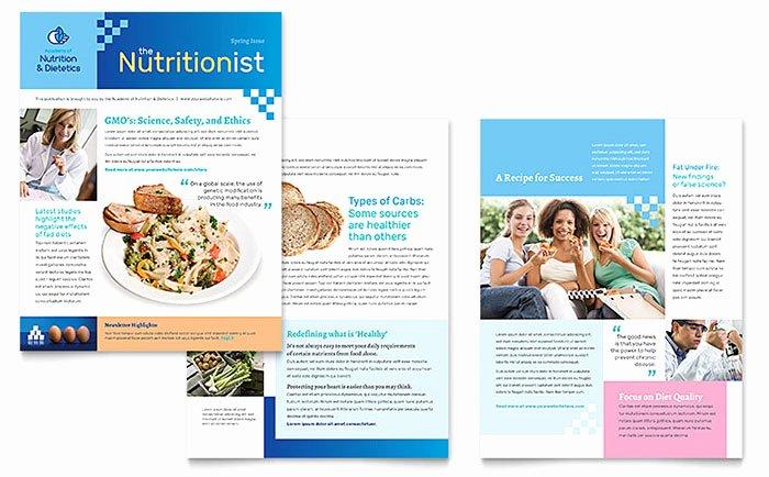 Free Publisher Newsletter Templates Elegant Dietitian Newsletter Template Word & Publisher