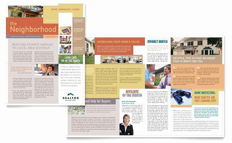 Free Publisher Newsletter Templates Elegant Realtor & Real Estate Agency Newsletter Template Word