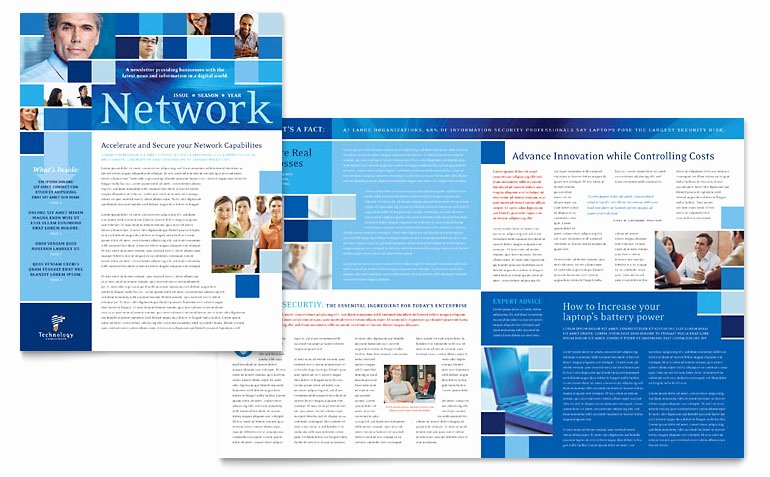 Free Publisher Newsletter Templates Elegant Technology Consulting & It Newsletter Template Word