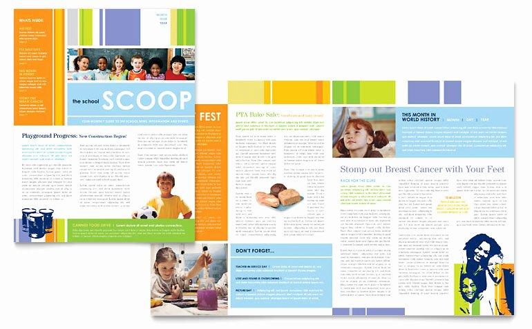 Free Publisher Newsletter Templates Fresh Learning Center & Elementary School Newsletter Template