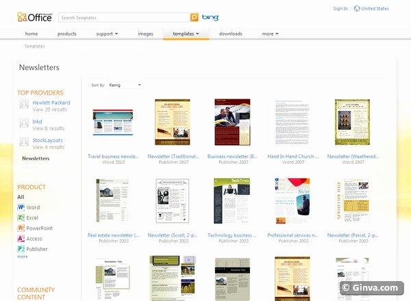 Free Publisher Newsletter Templates Fresh Microsoft Publisher Templates Free Download