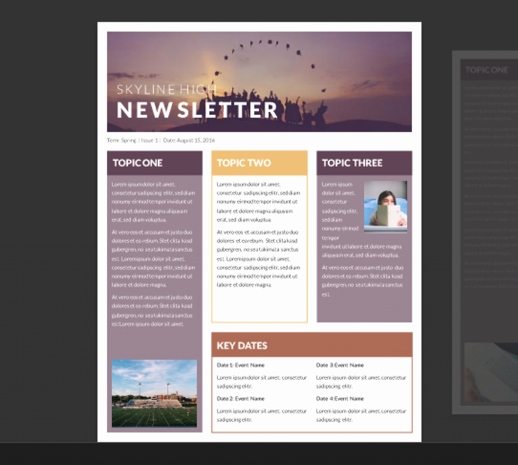 Free Publisher Newsletter Templates Inspirational Word Newsletter Template