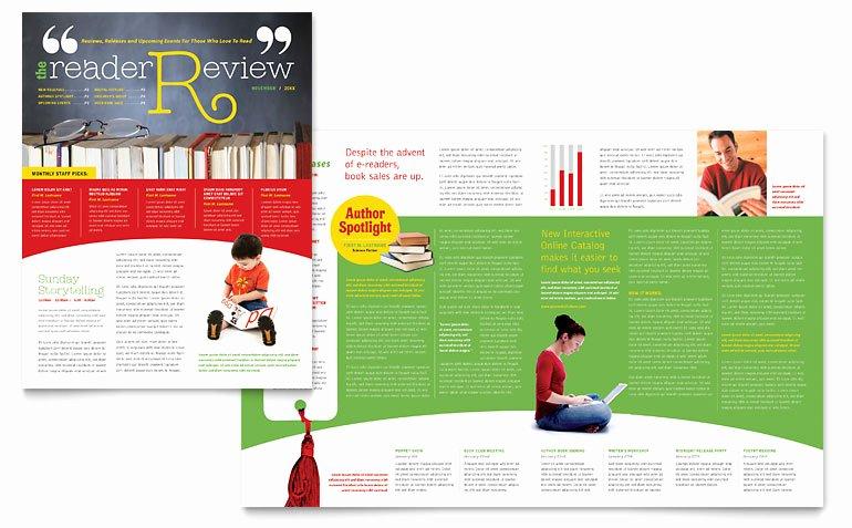 Free Publisher Newsletter Templates Lovely Bookstore & Library Newsletter Template Word & Publisher