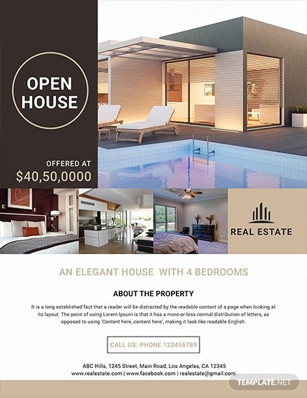 Free Real Estate Templates Beautiful 29 Free Real Estate Flyer Templates