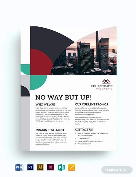Free Real Estate Templates Beautiful 64 Free Real Estate Flyer Templates Word