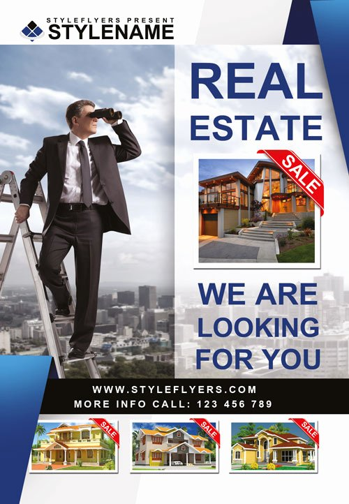 Free Real Estate Templates Beautiful Real Estate Agency Free Psd Flyer Template Download for