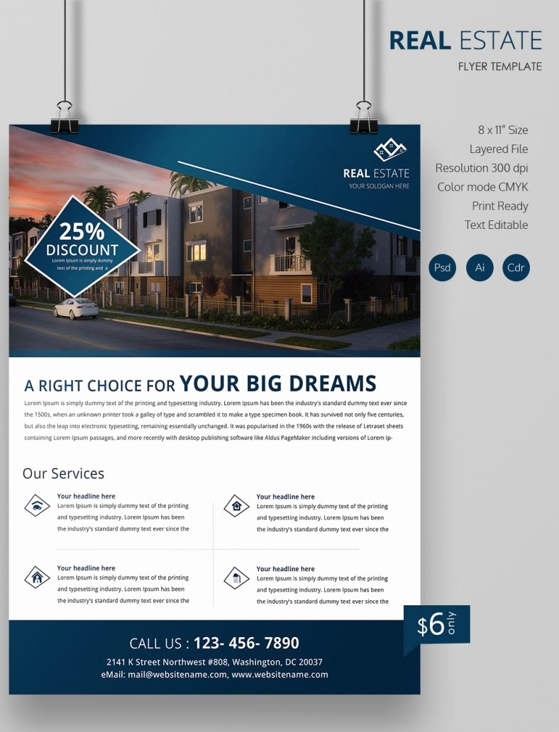 Free Real Estate Templates Best Of Real Estate Flyer Template 35 Free Psd Ai Vector Eps