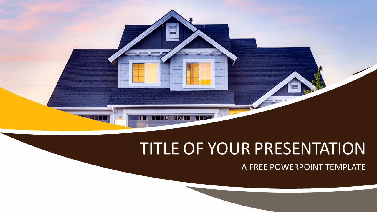 Free Real Estate Templates Best Of Real Estate Powerpoint Template Presentationgo