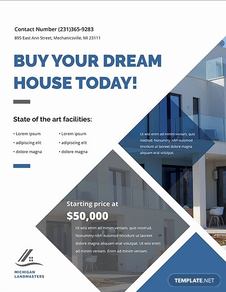 Free Real Estate Templates Fresh 29 Free Real Estate Flyer Templates