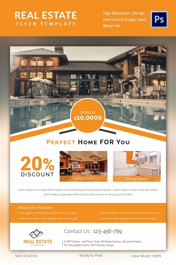 Free Real Estate Templates Fresh Real Estate Flyer Template 37 Free Psd Ai Vector Eps