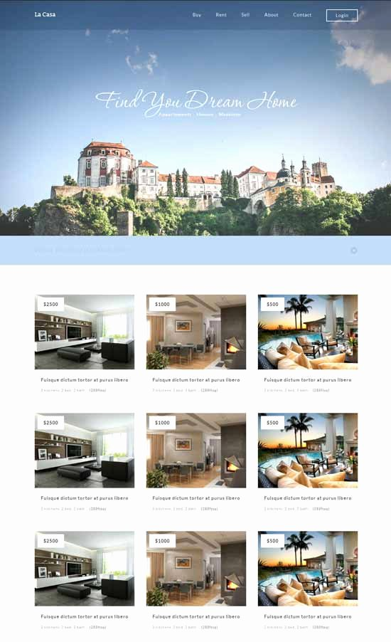 Free Real Estate Templates Lovely 58 Best Real Estate Website Templates Free & Premium