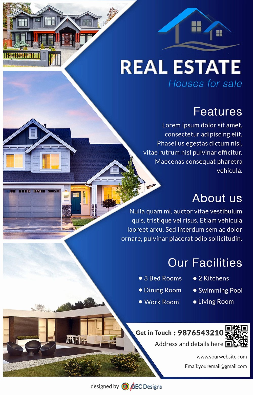 Free Real Estate Templates Luxury Download Free House for Sale Real Estate Flyer Design