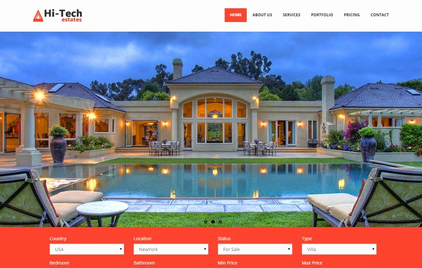 Free Real Estate Templates Luxury Real Estate Free Bootstrap Website Template Webthemez