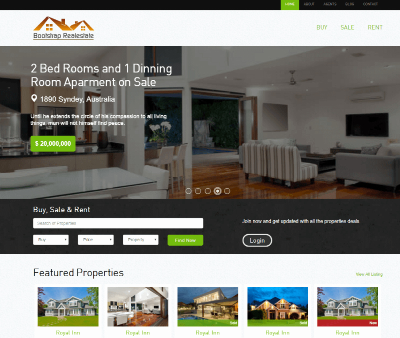 Free Real Estate Templates New 15 Best Free Real Estate HTML Website Templates 2019