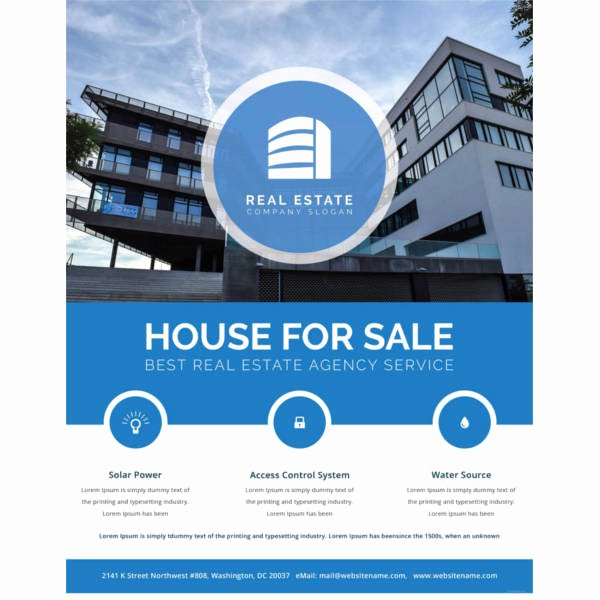 Free Real Estate Templates New 36 Real Estate Flyer Templates Psd Ai Word Indesign
