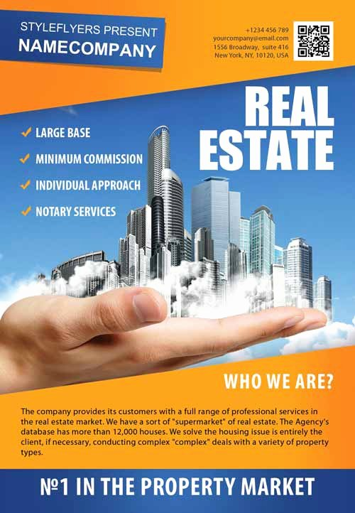 Free Real Estate Templates New Download the Real Estate Pany Free Flyer Template