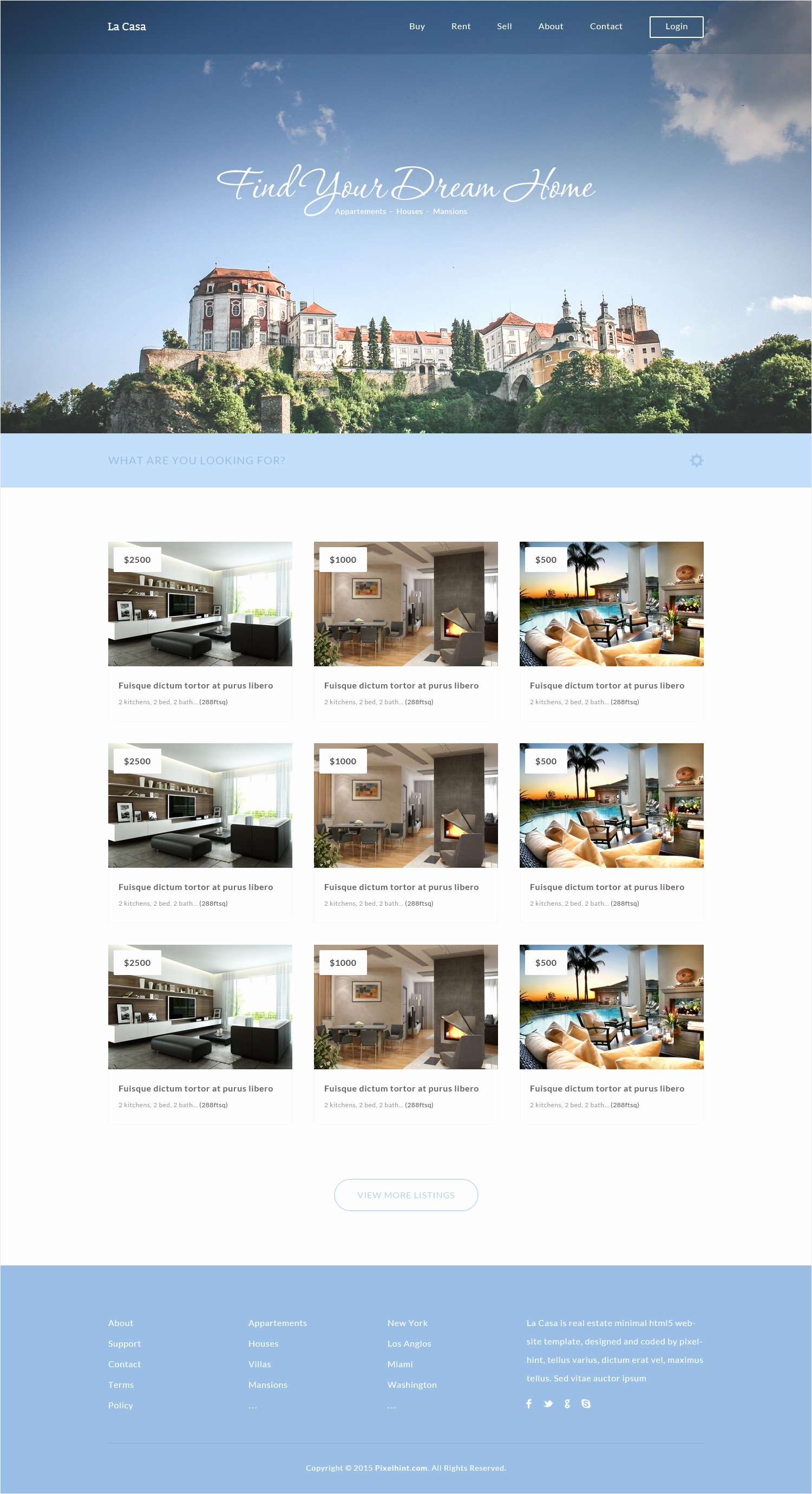 Free Real Estate Templates Unique La Casa Free Real Estate Fully Responsive HTML5 Css3