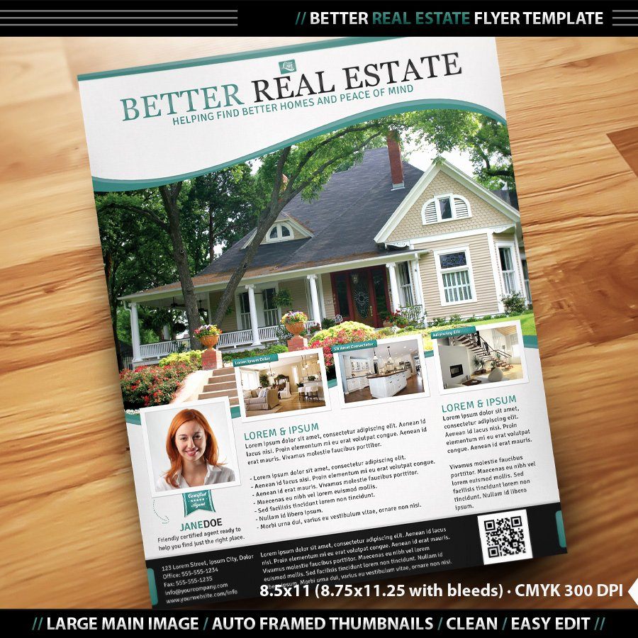 Free Real Estate Templates Unique Real Estate Flyer Inenx