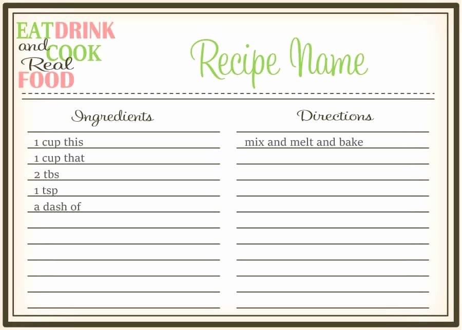 Free Recipe Card Templates Awesome 44 Perfect Cookbook Templates [ Recipe Book & Recipe Cards]