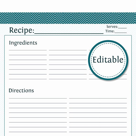 Free Recipe Card Templates Best Of Recipe Card Full Page Fillable Printable Pdf by