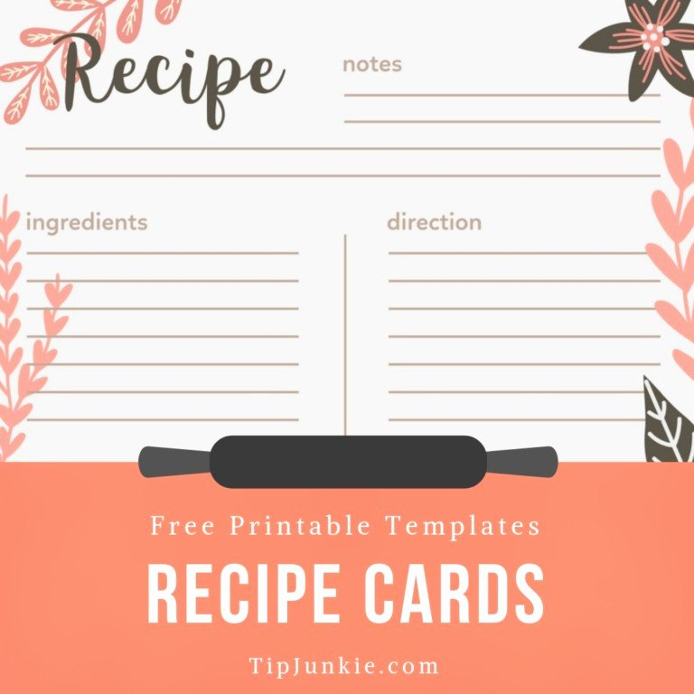 Free Recipe Card Templates Fresh 40 Recipe Card Template and Free Printables – Tip Junkie