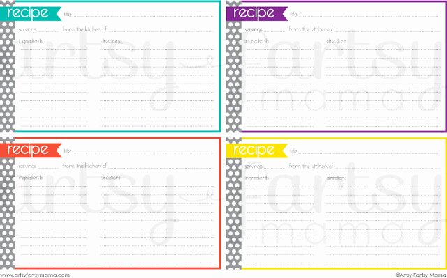 Free Recipe Card Templates Fresh Free Printable Recipe Cards