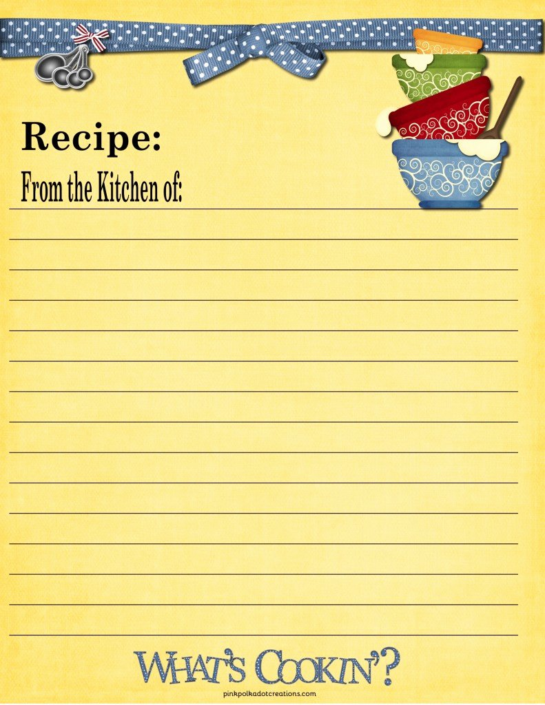 Free Recipe Card Templates Lovely Recipe Cards Pink Polka Dot Creations