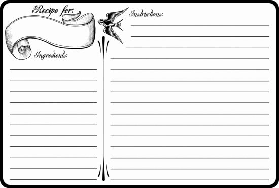 Free Recipe Card Templates Luxury 40 Recipe Card Template and Free Printables – Tip Junkie