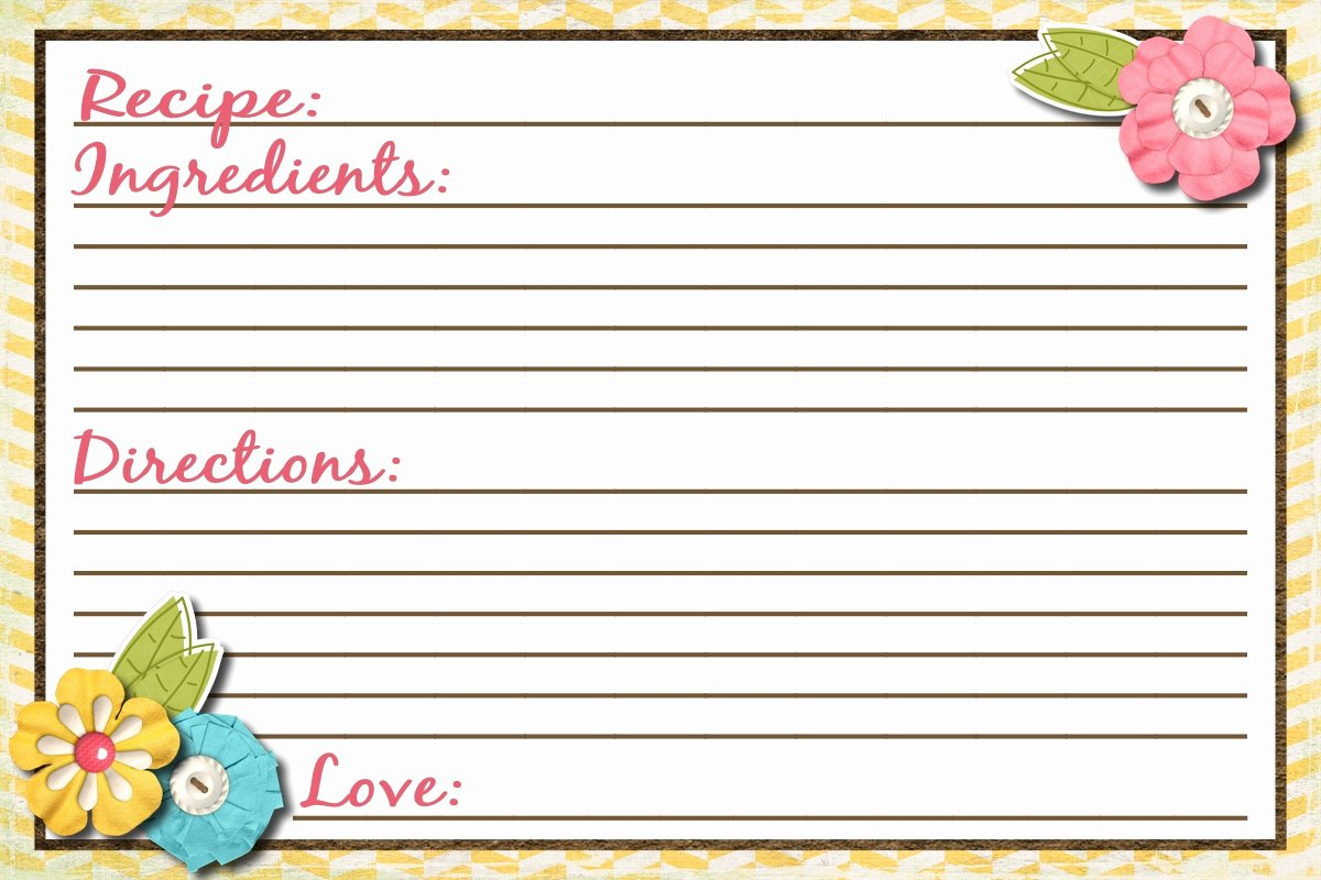Free Recipe Card Templates Luxury Sassy Sanctuary Recipe Card Free Printable