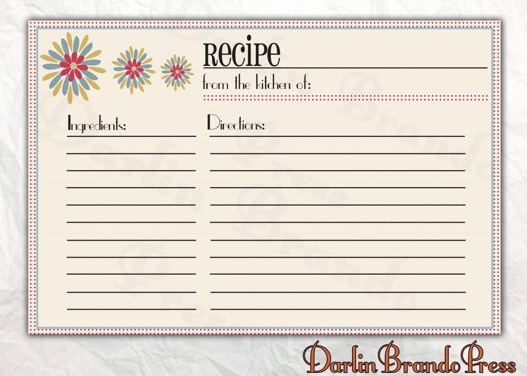 Free Recipe Card Templates New Free Recipe Card Templates for Microsoft Word – Free