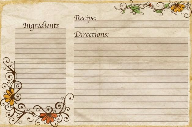 Free Recipe Card Templates New Free Recipe Card Templates