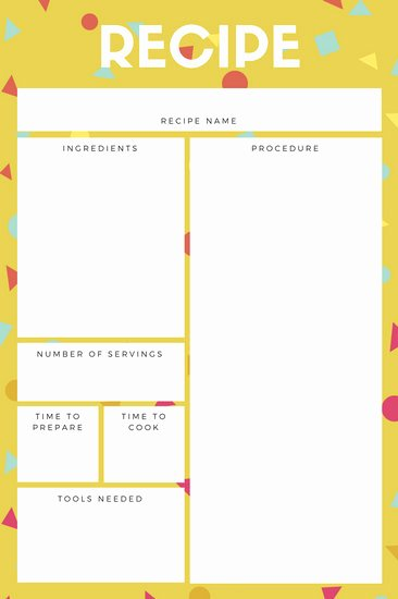 Free Recipe Card Templates Unique Customize 9 482 Recipe Card Templates Online Canva