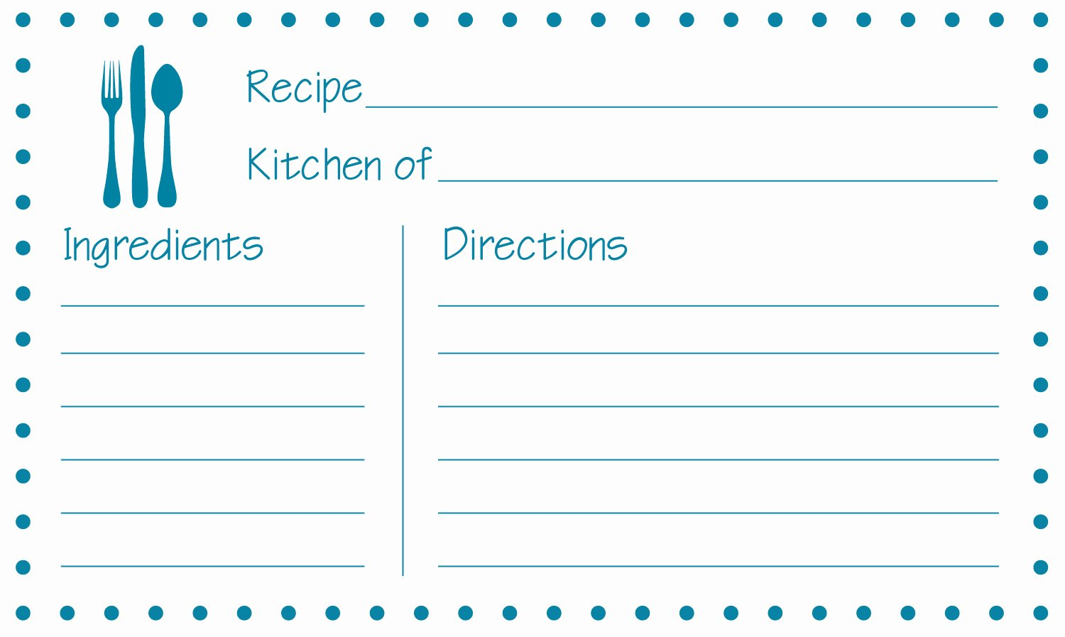 Free Recipe Card Templates Unique Free Printable Recipe Cards