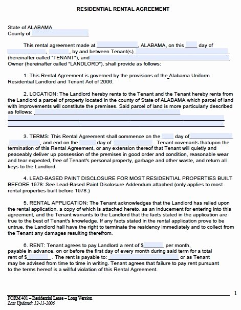 Free Rental Agreement Template Awesome Rental Lease Agreement Template