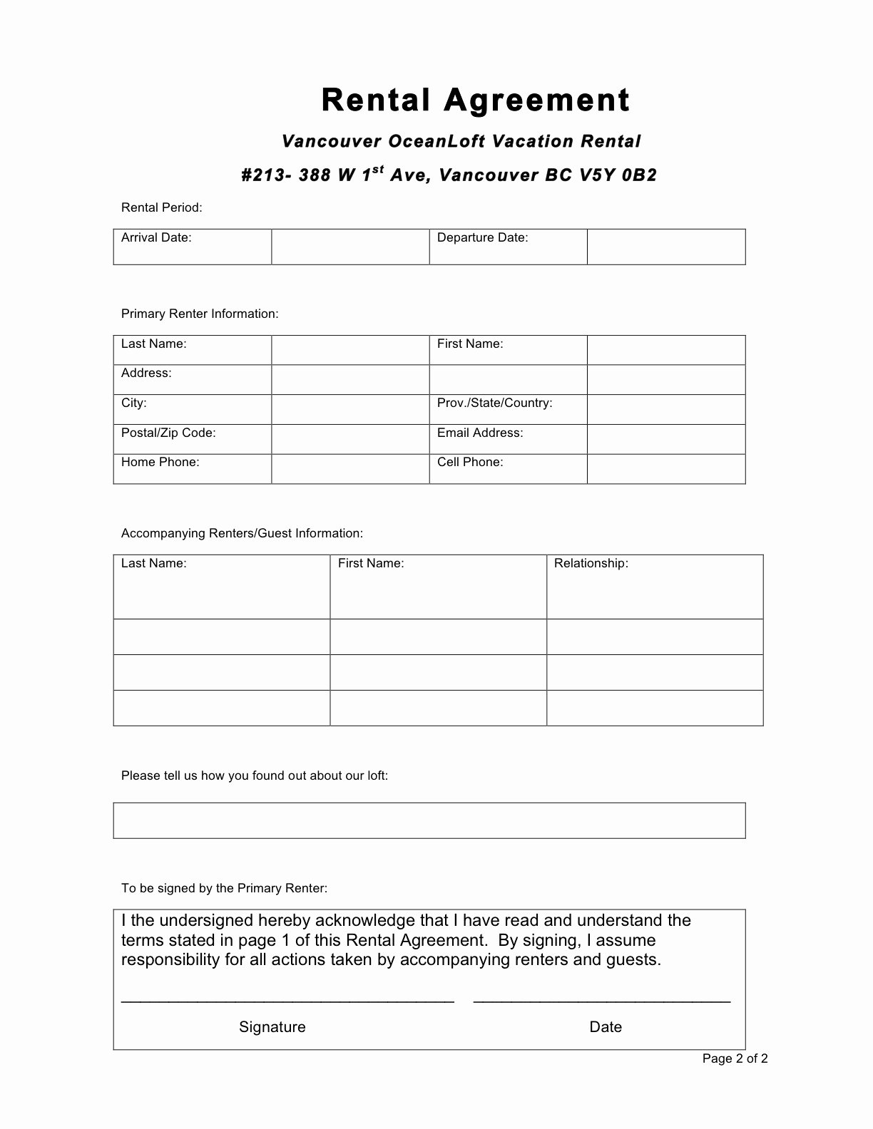 Free Rental Agreement Template Beautiful 30 Basic Editable Rental Agreement form Templates Thogati