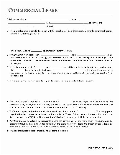 Free Rental Agreement Template Beautiful Free Lease Agreement Template