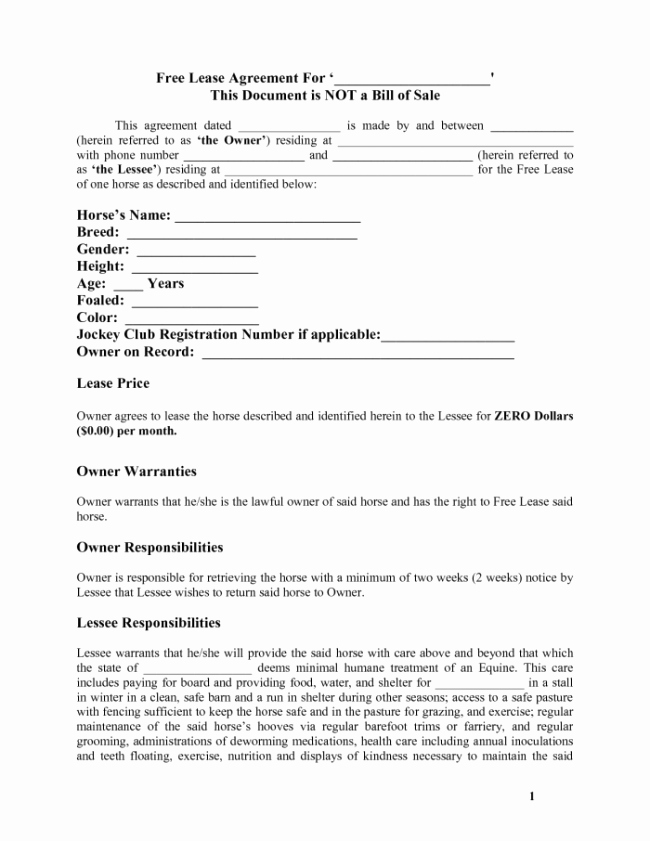Free Rental Agreement Template Best Of Free Download Lease Agreement Template Example with Blank